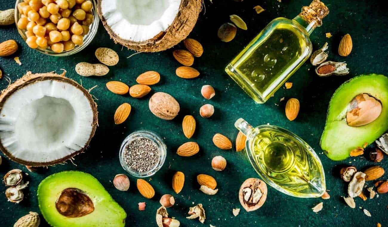 olio di oliva e olio di cocco